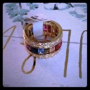 Rainbow Crystal Eternity Ring